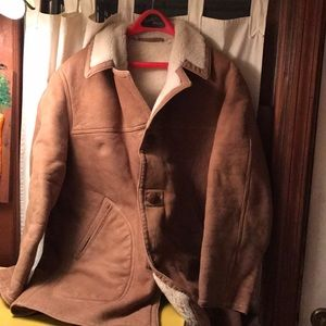 VTG Eddie Bauer sheepskin coat mens 42